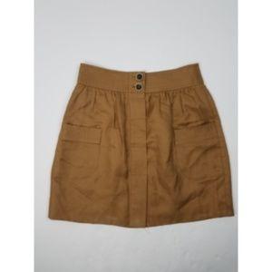 J. Crew Dorrie Skirt Linen Blend